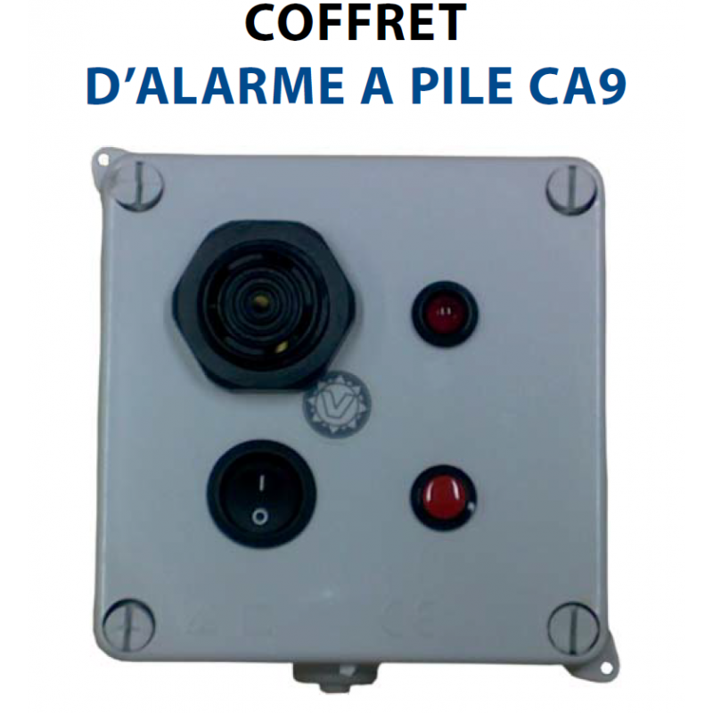 COFFRET D'ALARME A PILE