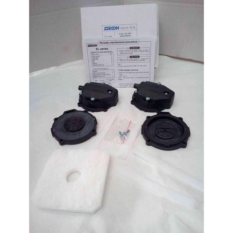 Kit de réparation pour pompe à air SECOH BIBUS Série EL-S (modèle 120 et 150)