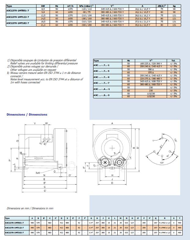 Dimensions ASC1370-1MT