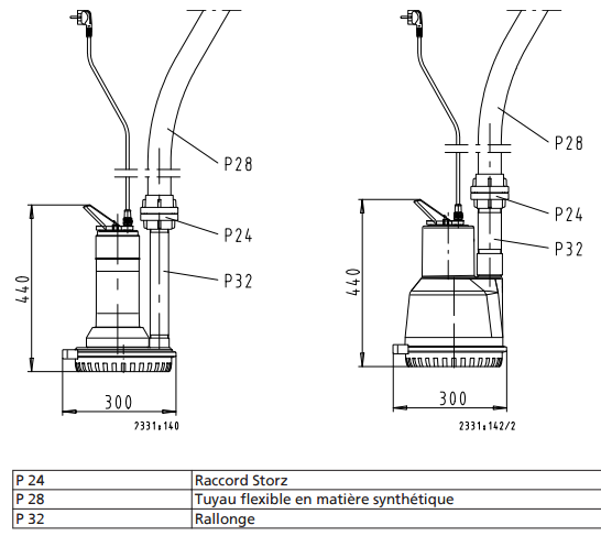 Exemple montage AMA DRAINER A 405 NE