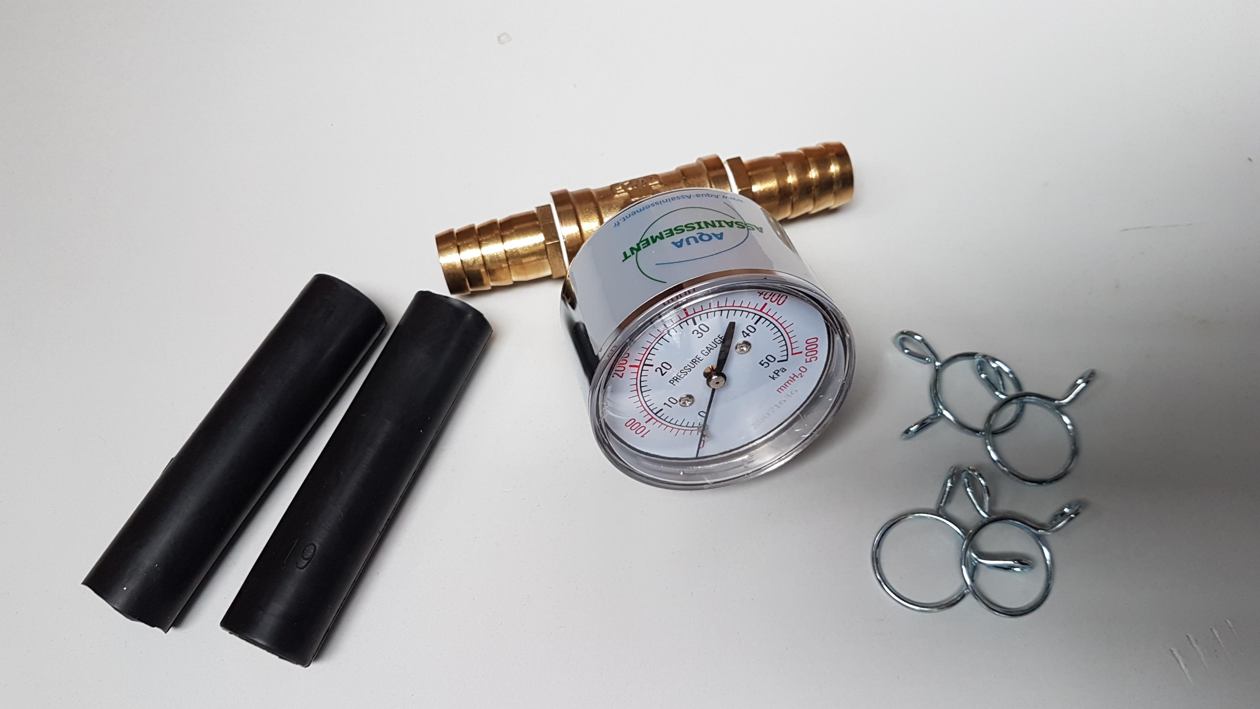 Manomètre adapté compresseur