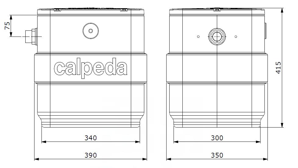 poste de relevage calpeda CAL40 GXVM 25-6 encombrement