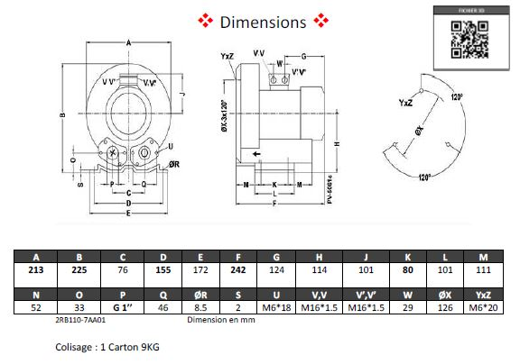 Dimensions 2RB110
