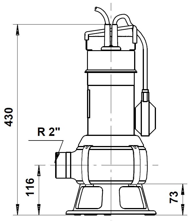 pompe grundfos unilift AP35B encombrement
