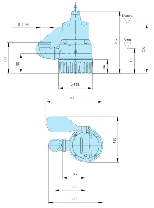 Homa Pompe BULLY C140 - encombrement