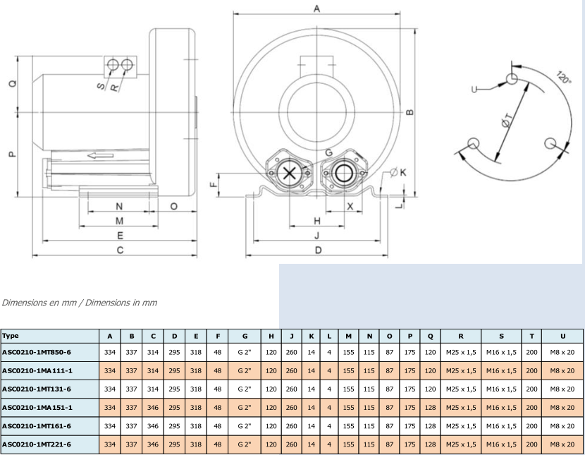 Airtech ASC0210-1M - dimensions