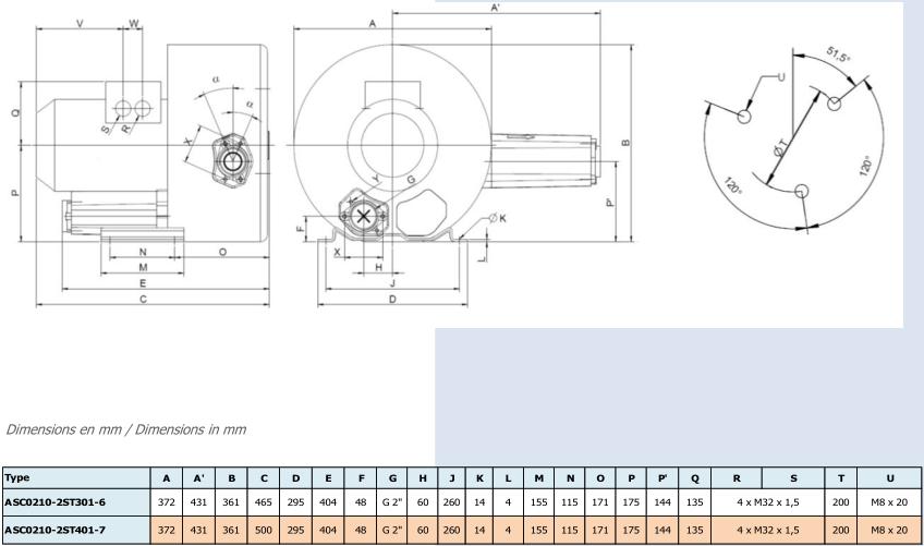 Airtech ASC0210-2S - dimensions