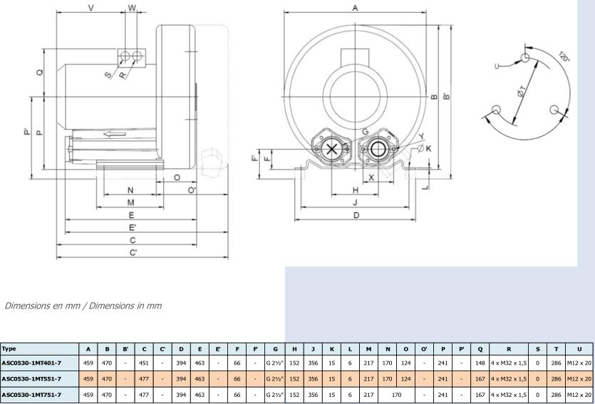 Airtech ASC0530-1M - dimensions