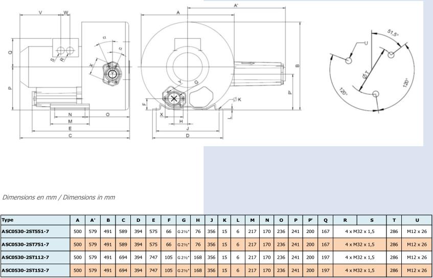 Airtech ASC0530-2S - dimensions