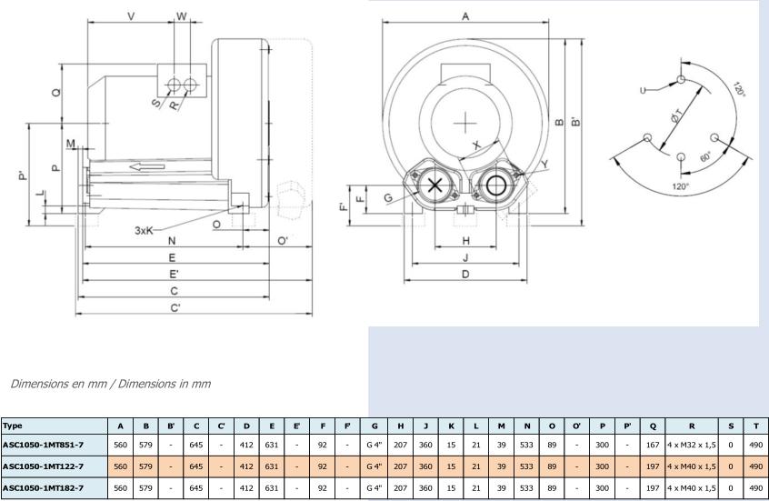 Airtech ASC1050-1M - dimensions