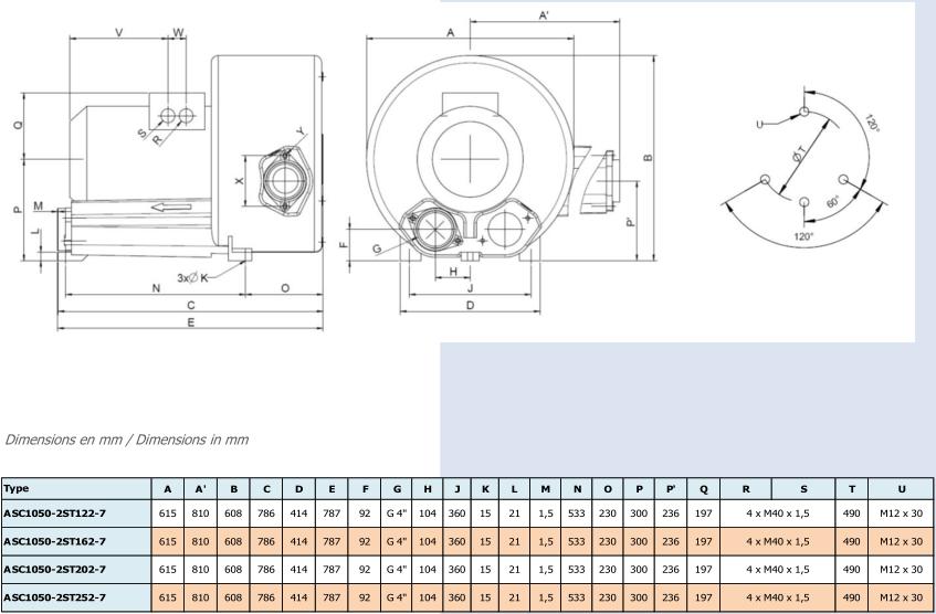 Airtech ASC1050-2S - dimensions